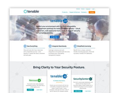 Tenable.com Website Redesign