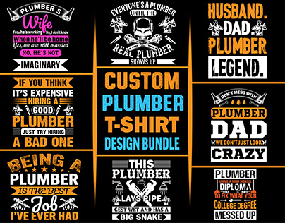 Creative and Professional Plumber T shirt Design