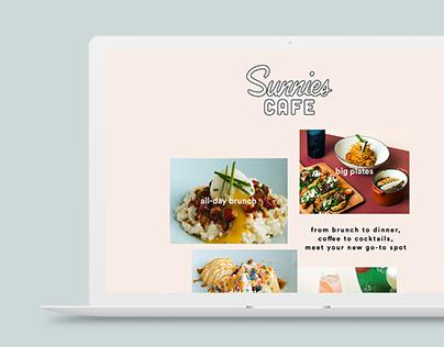 Sunnies Cafe Website