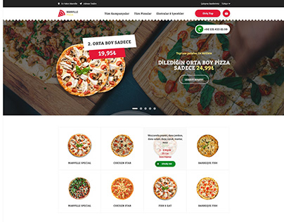 PIZZA WEB DESIGN / UI UX