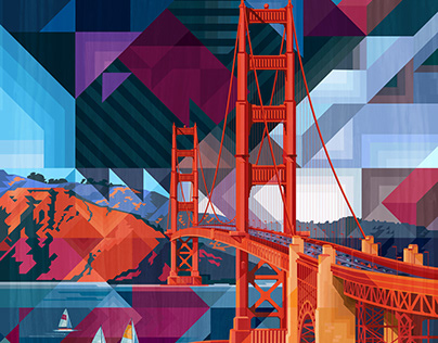 Golden Gate for Quiltfolk Magazine