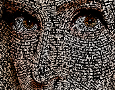 Typographic Portrait: Lady Gaga