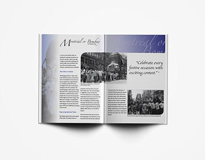 "Double Spread Magazine - ""Montreal or Bombay"""
