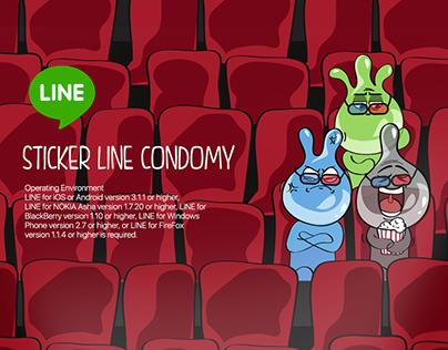 Condomy Sticker