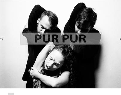 CONCEPT#2 Website for artist, songer - PurPur