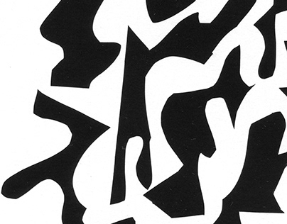 Shapes (black vinyl sketches)