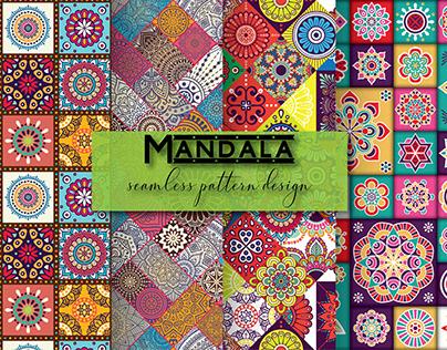 Mandala seamless pattern design