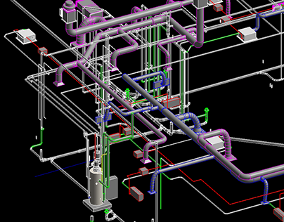 3D MEP Modeling of Commercial Complex