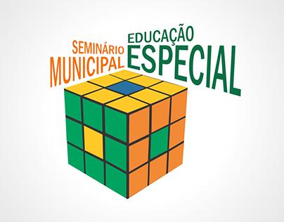 """Logomarca """"Seminário Municipal Educação Especial"""""""