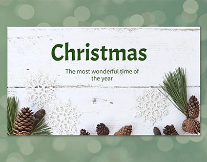 Green simple Christmas - free Google Slides Template