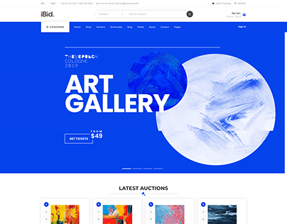 Art Auctions - iBid Auctions Theme for WooCommerce