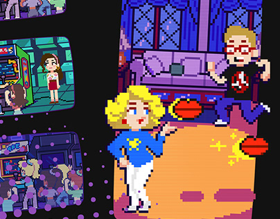 Pixel Illustrations for The Goldbergs: Back to the 80s