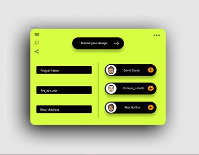 Submit Design UI