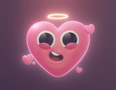 Baby Heart Emoji - 3D Character