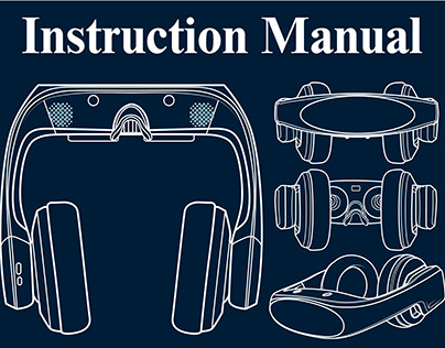 Instruction Manual- line art -technical Drawing