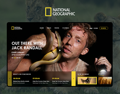 National Geographic Homepage Redesign