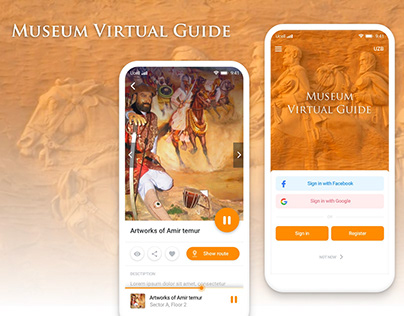 Museum virtual guide mobile app design