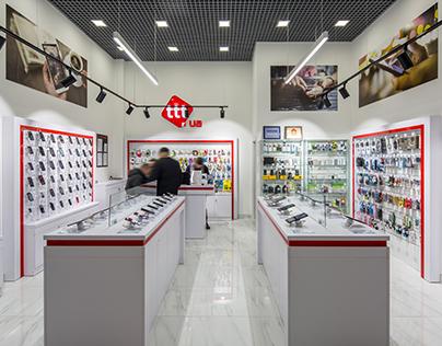 ttt — Освещение для магазина смартфонов и аксессуаров