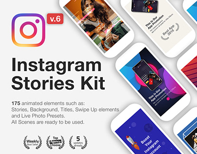Animated Instagram Stories Kit + Free Templates
