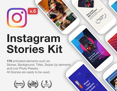 Animated Instagram Stories Kit + Free Templates