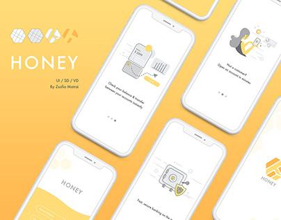 Honey tech Onboarding Visual Designs
