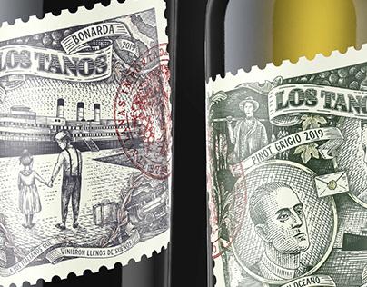 LOS TANOS - Wine label