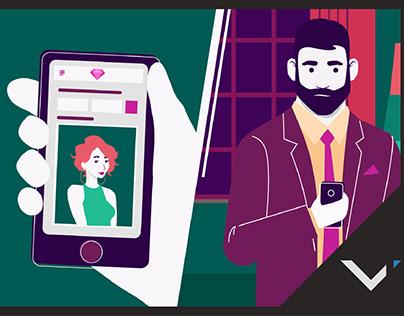 Crystals. Реклама приложения для App Store и Google Pla