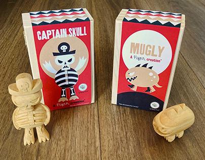 Bogey-man™ Wooden Figures