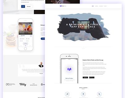 Metro Finder App & Landing Page