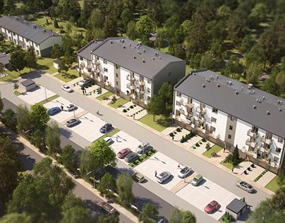 Housing estate in Sosnowiec
