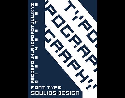 Font Type SOULIOS DESIGN Poster