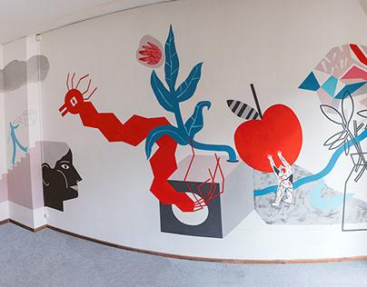 Room mural - die Fabrik, Berlin