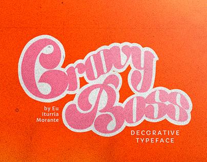 Groovy Boss   Decorative Typeface