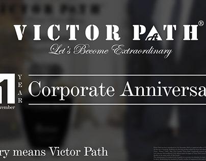 1st Year Corporate Anniversary | Victor Path | Brand |