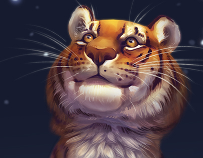 Tiger painting + video