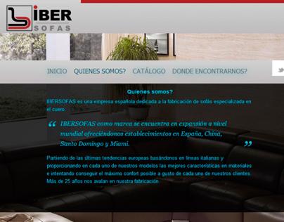 IBER Sofas ® - Web Design