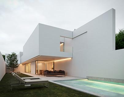 ArchViz CGI -Pati Blau House/Fran Silvestre Arquitectos