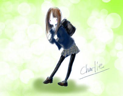 kawaii  girl illustration