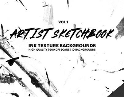 Artist Sketchbook: ink texture background