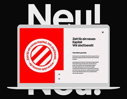 Club Zooma - Webdesign