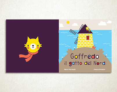-Goffredo the cat of the North- Children's book