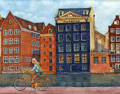 Амстердам, танцующие дома