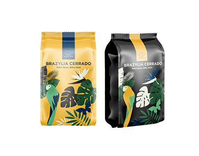 Packaging and visual identification for coffee roaster