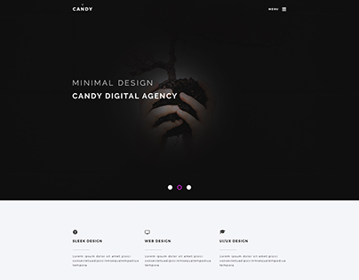 Its my new single page psd template