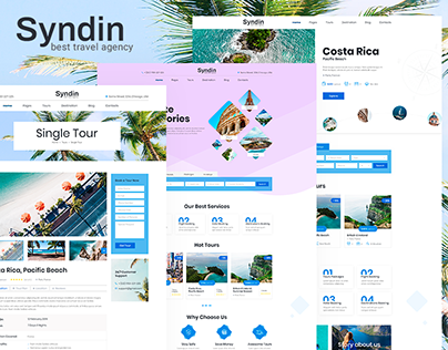 Syndin - Travel Agency PSD Template