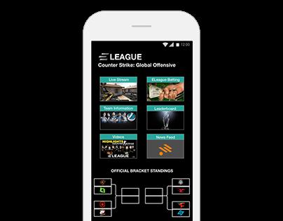 a fantasy e-sports betting app design