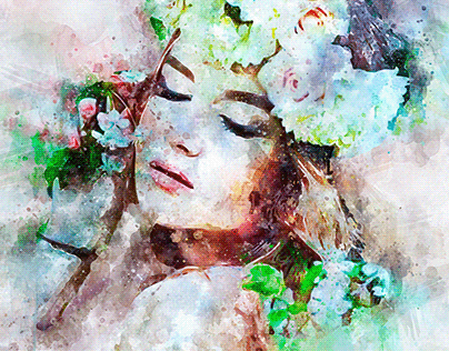 I will paint amazing watercolor portrait of your photo