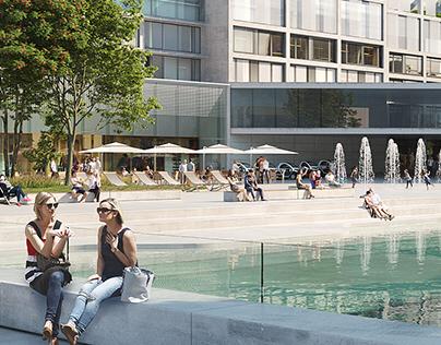 Urban development. Outskirts of Göteborg. Sweden.