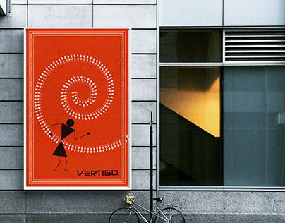 Vertigo Poster in Warli Art Form.