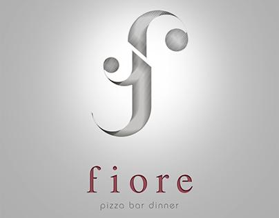 logo design Fiore   Pizza bar dinner